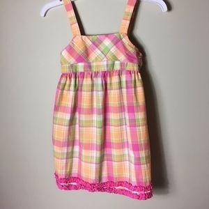 Hartstrings Cotton Plaid Summer Dress